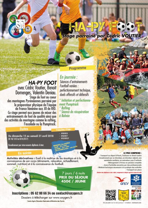 stage de foot centre de vacances montagne Oxygers