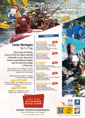Camp Montagne Printemps 2017 séjours Ados