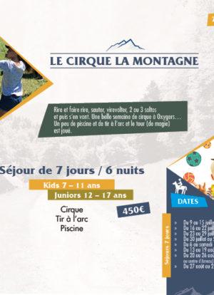 séjours cirque montagne ados pyrenees oxygers