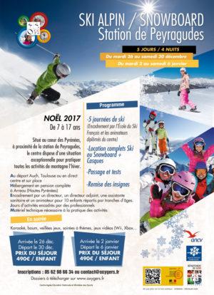 sejour Ski Peyragudes noel 2017