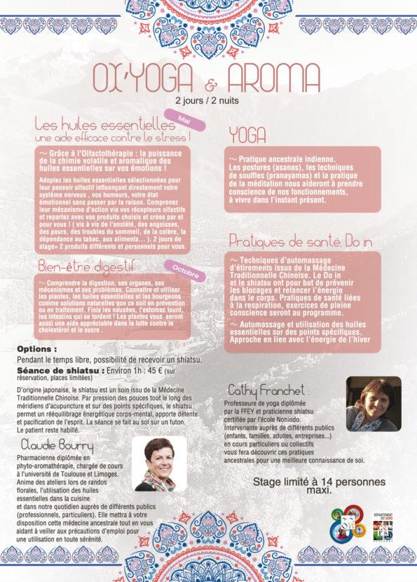 Stage et cours de YOGA & AROMA séjours Pyrénées de Toulouse ou Auch