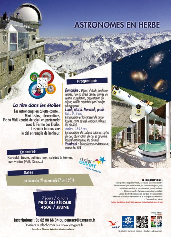 ASTRONOMES EN HERBE séjours vacances astronomie Pyrénées