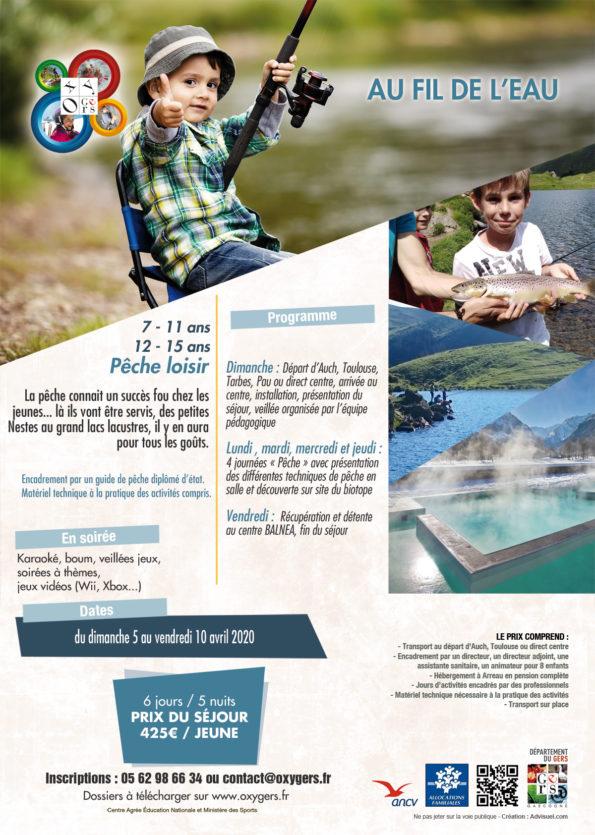 Stage de pêche Pyrénées 2020 Au Fil de l'Eau vacances Enfants