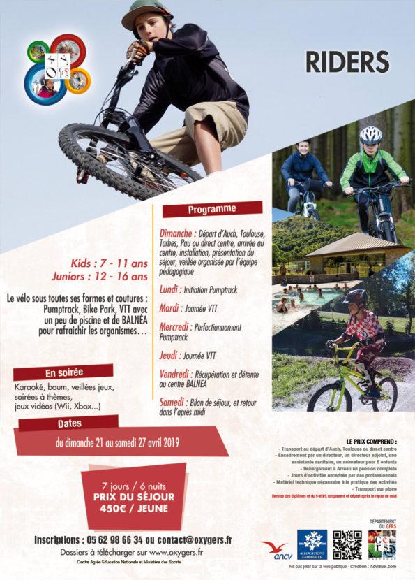 sejours vtt centre vacances pyrenees, vélo pumptrack ados