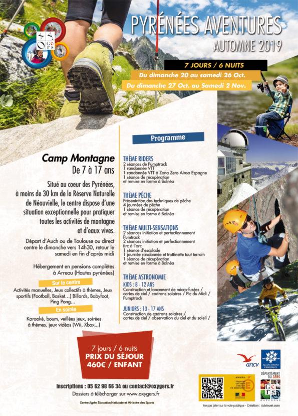 séjour vacances Pyrénées aventures 2019