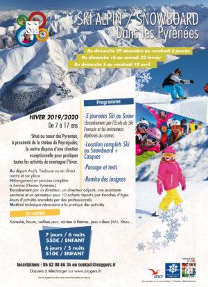 sejours ski enfants ados pyrenees