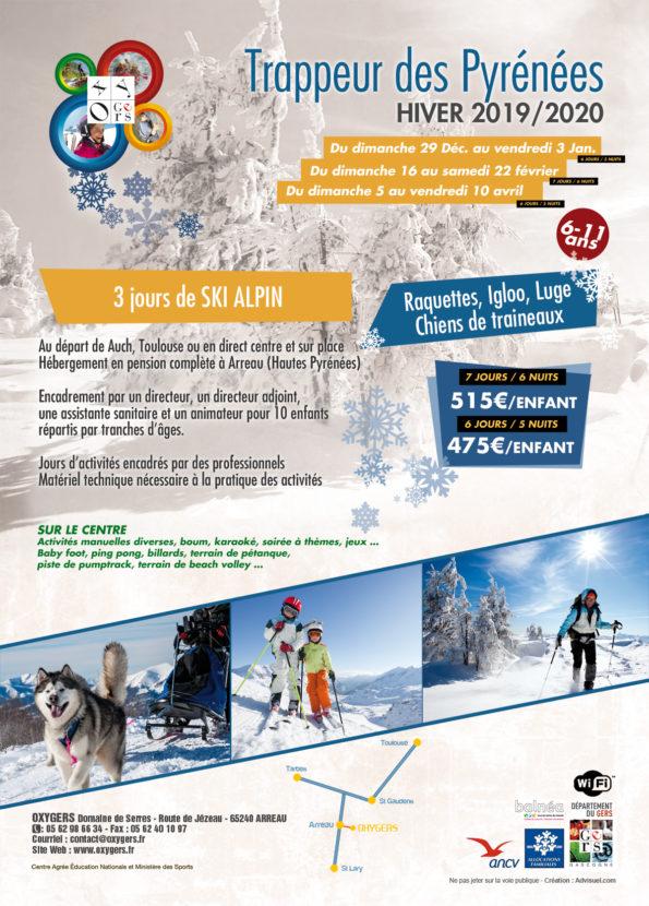 Trappeur pyrenees stage ski raquettes enfants