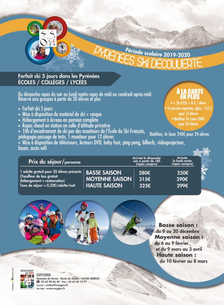 classe de neige Ski decouverte pyrénées 2019