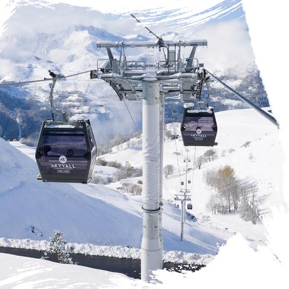 estación de esquí peyragudes skyvall